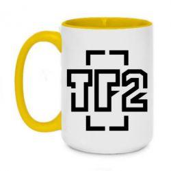 Кружка двухцветная 420ml Team Fortress 2 logo
