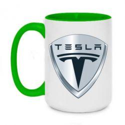 Кружка двухцветная 420ml Tesla Corp