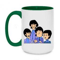Кружка двухцветная 420ml The Beatles - FatLine