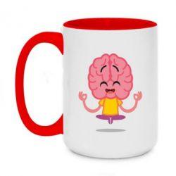 Кружка двоколірна 420ml The brain meditates