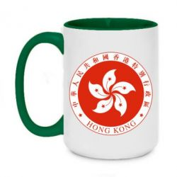 Кружка двоколірна 420ml The coat of arms of Hong Kong