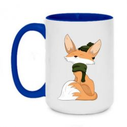 Кружка двоколірна 420ml The Fox in the Hat