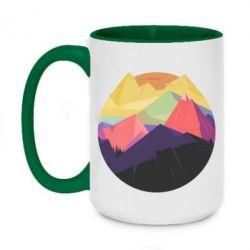 Кружка двухцветная 420ml The mountains Art