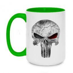 Кружка двухцветная 420ml The Punisher Logo