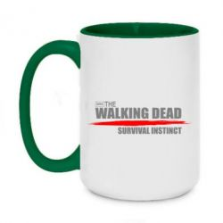 Кружка двухцветная 420ml The walking dead survival instinct