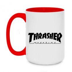Кружка двоколірна 420ml Thrasher Magazine