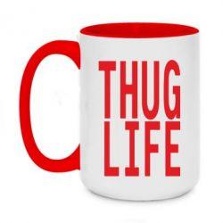 Кружка двухцветная 420ml thug life