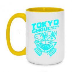 Кружка двоколірна 420ml Токійський гуль