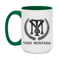 Кружка двоколірна 420ml Tony Montana Logo