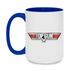 Кружка двоколірна 420ml Top Gun Logo