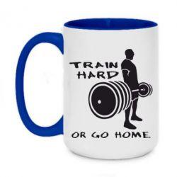 Кружка двухцветная 420ml Train Hard or Go Home - FatLine
