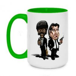 Кружка двухцветная 420ml Travolta & L Jackson