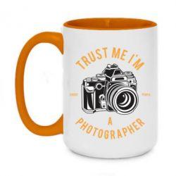 Кружка двоколірна 420ml Trust me i'm photographer