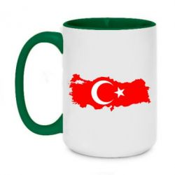 Кружка двухцветная 420ml Turkey