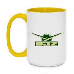 Кружка двоколірна 420ml UAZ Лого