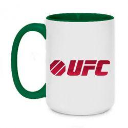 Кружка двухцветная 420ml UFC Main Logo