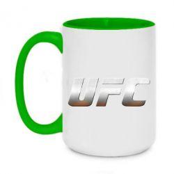 Кружка двоколірна 420ml UFC Metal - FatLine