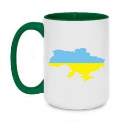 Кружка двухцветная 420ml Украина - FatLine