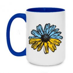 Кружка двухцветная 420ml Українська квітка