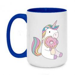 Кружка двухцветная 420ml Unicorn and cake
