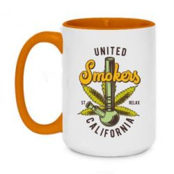 Кружка двоколірна 420ml United smokers st relax California