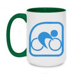 Кружка двухцветная 420ml Велоспорт