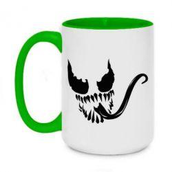 Кружка двухцветная 420ml Venom Silhouette - FatLine