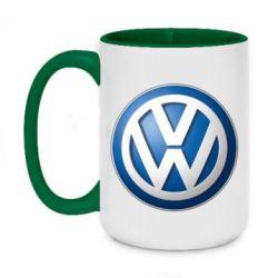 Кружка двоколірна 420ml Volkswagen 3D Logo