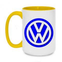 Кружка двоколірна 420ml Логотип Volkswagen
