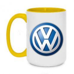 Кружка двоколірна 420ml Volkswagen Small Logo