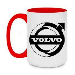 Кружка двоколірна 420ml Volvo logo