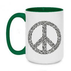 Кружка двоколірна 420ml War Peace