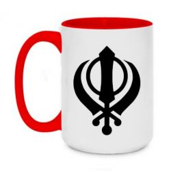 Кружка двухцветная 420ml White Khanda
