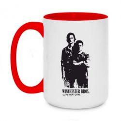 Кружка двухцветная 420ml Winchester Bros - FatLine