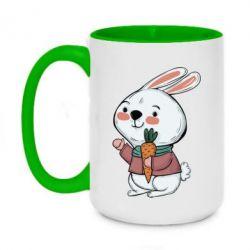 Кружка двоколірна 420ml Winter bunny