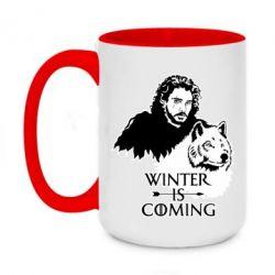 Кружка двоколірна 420ml Winter is coming I