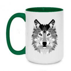 Кружка двоколірна 420ml Wolf Art