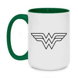 Кружка двухцветная 420ml Wonder Woman Logo