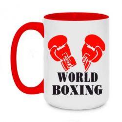 Кружка двухцветная 420ml World Boxing