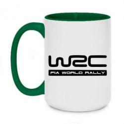 Кружка двухцветная 420ml WRC