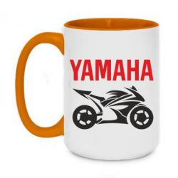 Кружка двоколірна 420ml Yamaha Bike