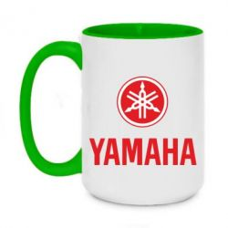 Кружка двухцветная 420ml Yamaha Logo(R+W)