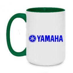 Кружка двухцветная 420ml Yamaha Logo