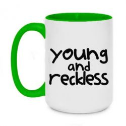 Кружка двоколірна 420ml Young and Reckless