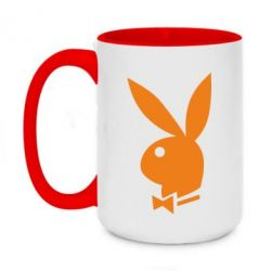 Кружка двухцветная 420ml Заяц Playboy - FatLine