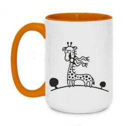 Кружка двухцветная 420ml жираф