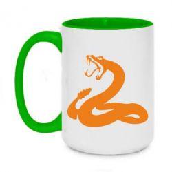 Кружка двоколірна 420ml Змія - FatLine