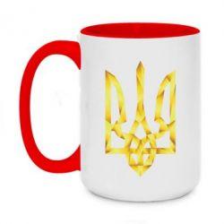 Кружка двухцветная 420ml Золотий герб - FatLine