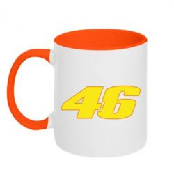 Кружка двухцветная 46 Valentino Rossi - FatLine