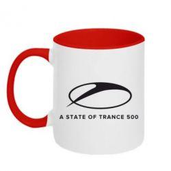 Кружка двоколірна 320ml A state of trance 500